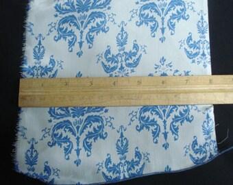 100% Silk Crepe - Blue Crest