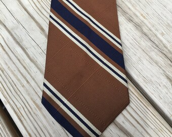 Tie Neck Tie Mens Tie Brown Vintage Tie