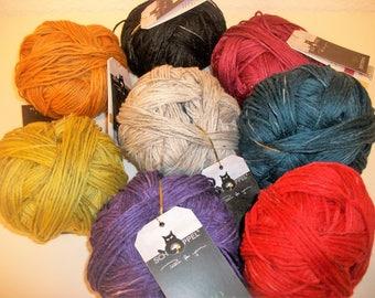 Bio Yarn Bio Merino wool with linen from Schoppel certified knit or Chrochet