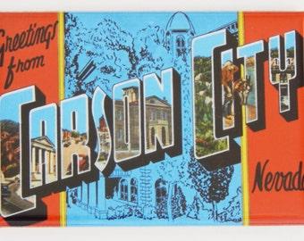 Greetings from Carson City Nevada Fridge Magnet