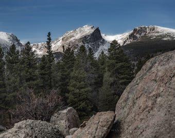 Mountain Decor, Colorado Wall Art, Colorado Photography, Mountain Pictures, RMNP Pictures, Decor for Cabins, Nature Mountains, Photo Print