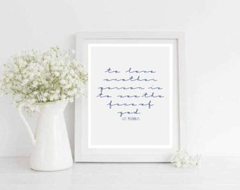 To Love Another Printable Quote