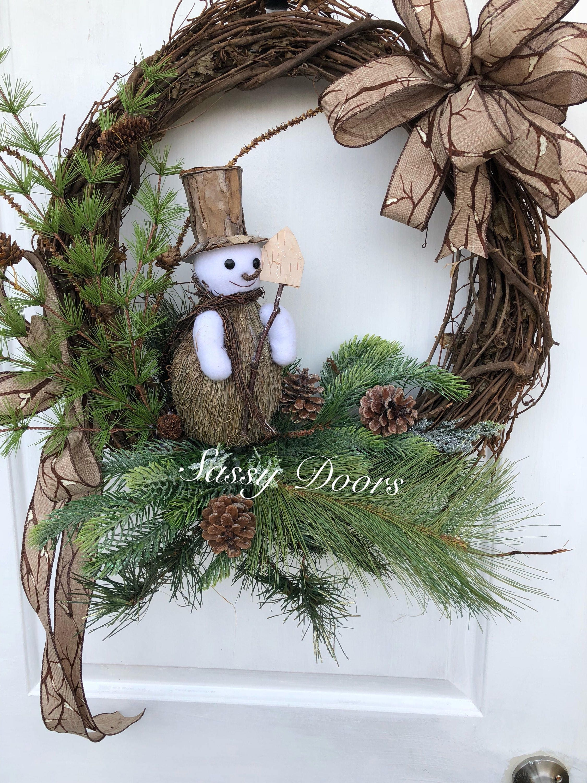 Winter Wreath Snow Wreath Snowman Wreath Winter Wreath