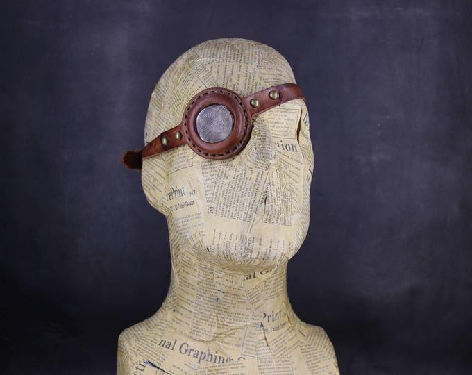 STEAMPUNK Eyepatch -  leather eyepatch - steampunk fashion