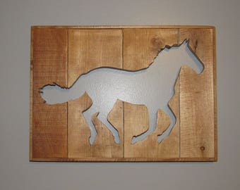Pallet Wood Horse Cut-Out Wall Decor