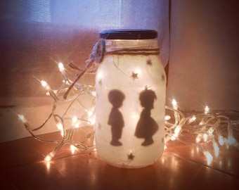 "Couple of kids ""Innocent love"" candle Lantern"