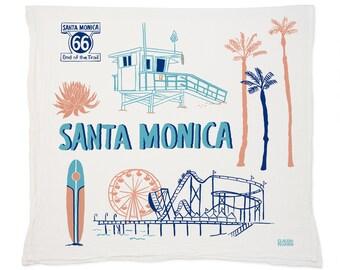 Santa Monica Tea Towel