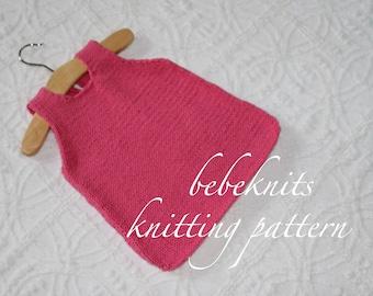 Bebeknits Simple Summer Toddler Tank Top Knitting Pattern