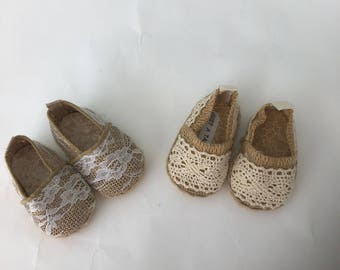 18 inch Laney Lee canvas doll shoes, made to fit 18 inch dolls such as American Girl Dolls and similar size dolls
