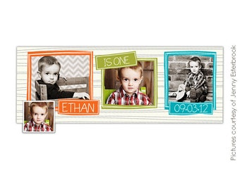 INSTANT DOWNLOAD  - First Birthday Facebook Timeline Cover - photoshop template - E394