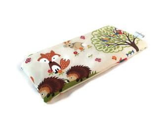 Woodland Critters Snack Bag || Reusable Sandwich Bag || Reusable Snack bag || Eco Friendly Gift || Zippered Pouch || Food Safe Bag