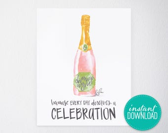 Champagne Celebration Printable