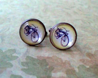 20% OFF -- 16 mm Vintage Look Bicycle Cuff Links ,Mens Accessories, perfect gift idea