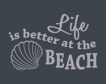 Life is Better at the Beach Wall Decal