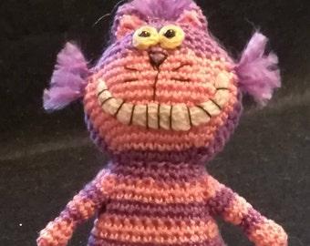 Cheshire Cat, Alice in Wonderland Cat, Miniature cat, Amigurumi Cheshire Cat, Amigurumi cat, Wonderland cat gift, Small Cheshire Cat