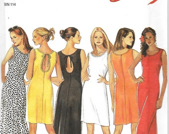 New Look 6752 Misses Easy Summer Dress Sewing Pattern, Size 6-16, UNCUT