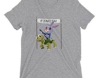 Tortoise & Hare Guitar Adult Short Sleeve T-shirt