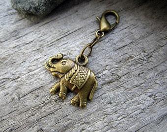 Bronze Elephant Charm - Midori Charm - Fauxdori Traveler's Notebook Charm