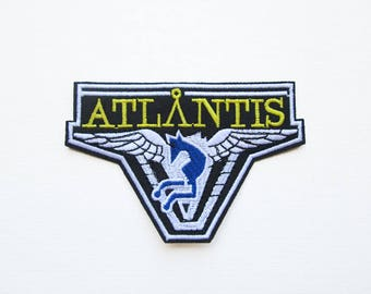 Stargate Atlantis Crew Embroidered Patch, Universe, TV, Fan, Fandom, Embroidered Iron on, Stargate Logo, TV, TV Series, Franchise, Pegasus