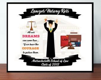 Custom Lawyer Graduation Print, Personalized Lawyer Men Boy, Graduation Print, Personalized Graduation Gift, Lawyer Graduate