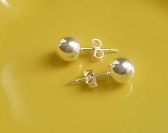5mm Sterling silver ball  stud earrings, post earring