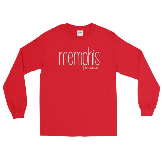 Memphis Tennessee Unisex Women's Men's City State Long Sleeve T-Shirt