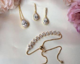Wedding jewellery set, bridal jewellery set, bridesmaid gift, personalised bridesmaid gift, wedding jewelery