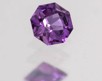 American faceted natural Tanzania violet Sapphire