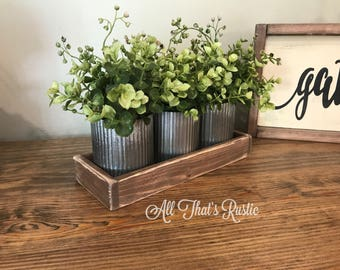 Norah Zinc Vases, Rustic Metal Decor, Rustic Home Decor, Table Decor, Metal Decor, Farmhouse Table Decor, Home Decor, Wedding Centerpiece