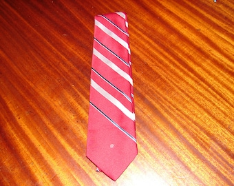 Men's Necktie dark red Pierre Cardin vintage 100% silk