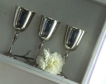 Silver Plated Vintage Wine Goblets