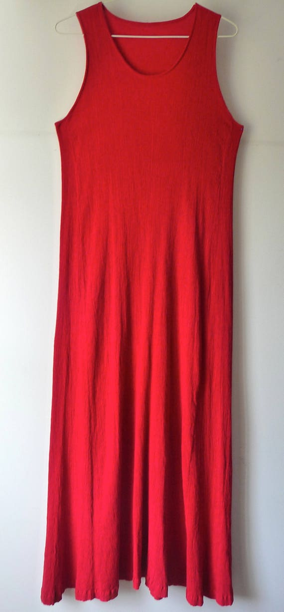 Red Dress   Issey Miyake   Red Dress Pleated   Beautiful Dark   80's   Retro   Made In France   Good Condition   Size 8 10 38 40 by Etsy
