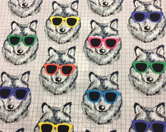 Dog Fabric Sunglasses Canine Cotton By The Yard 36 Inches Long