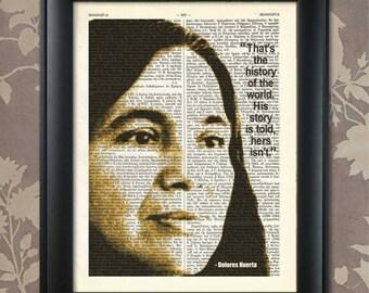 Dolores Huerta Quote, Dolores Huerta print, Dolores Huerta art, Feminist, Feminism, Activist, Si se puede, Civil Rights, Mexican American