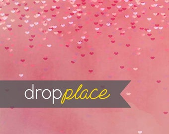 Printed Pink  Hearts Photography backdrop  Background Photo Booth Printed vinyl or Fabric (Multiple Sizes Available)