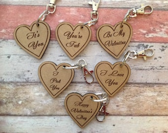 Valentines laser cut and engraved key ring