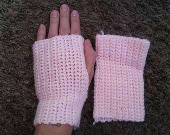 Pink Crochet Hand Warmers