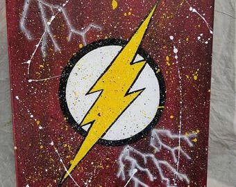 The Flash Hand Painted Canvas