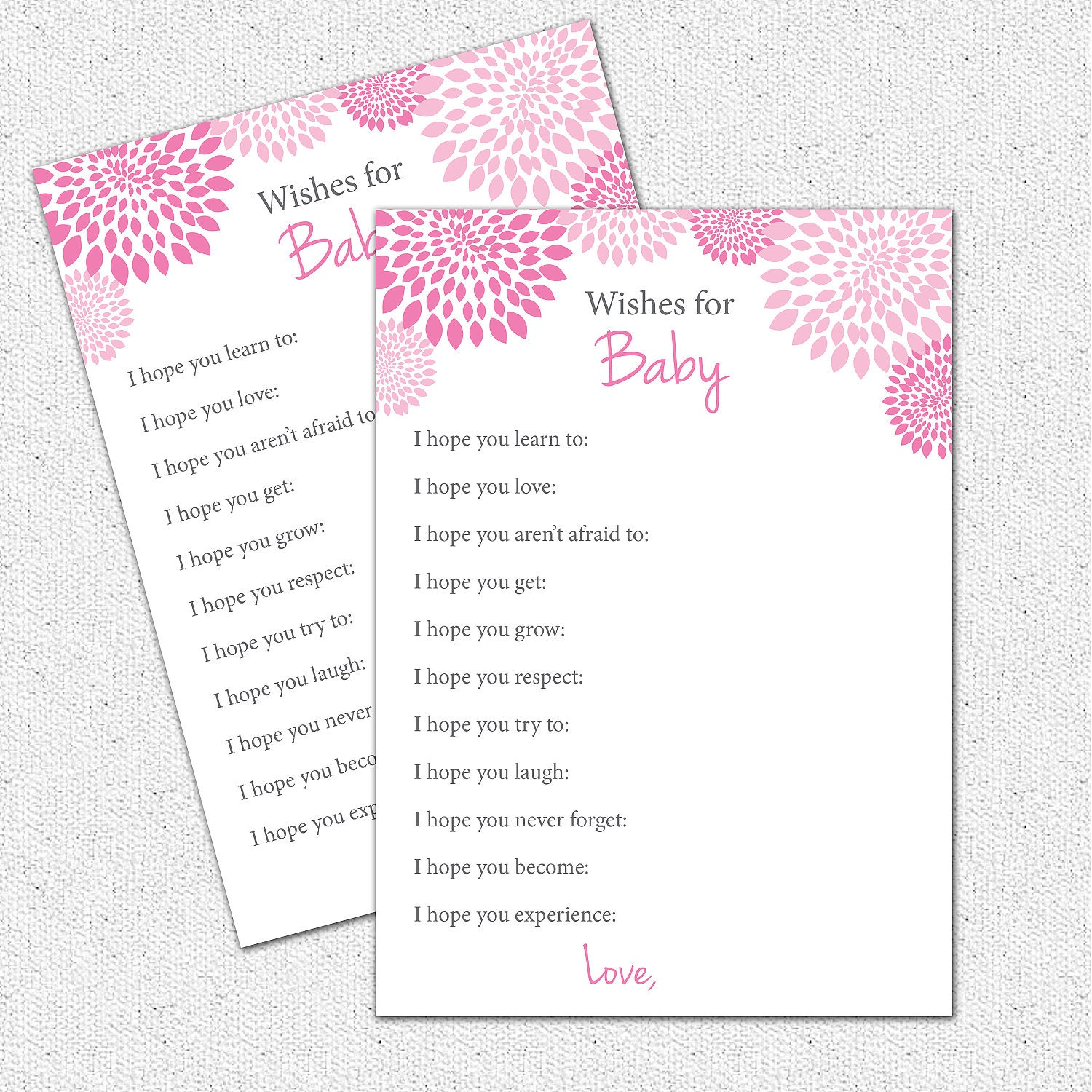 Well wishes i hope you baby shower game printable girl hot zoom kristyandbryce Gallery
