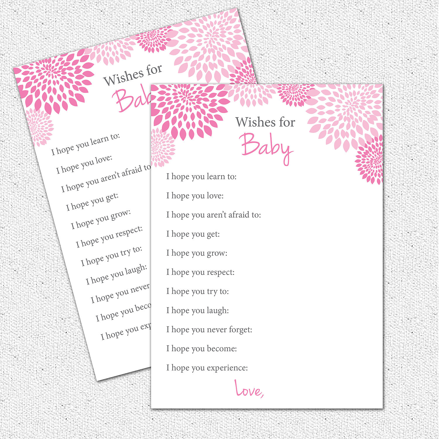 Well wishes i hope you baby shower game printable girl hot zoom kristyandbryce Image collections
