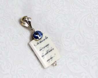 A 'Something Blue' Bouquet Charm with Glitter Galore - BC2Fa-G