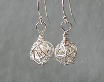 Silver Earrings - Sterling Silver Drop Earrings - Love Knot Earrings - Dangle Earrings Gift For Mom Birthday Gift, |, Girlfriend Gift
