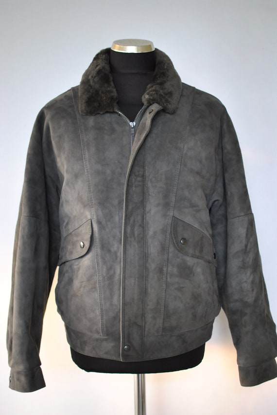 Vintage Leather Wear Styled by FRONT LINE , men leather jacket ...(071)