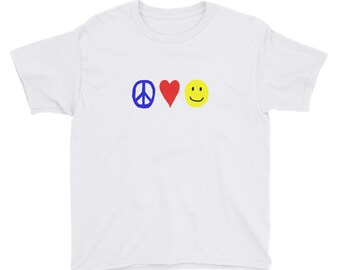RC Peace, Love, and Happiness Youth Short Sleeve T-Shirt
