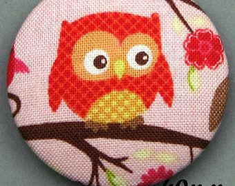 Fabric - OWL - 40mm (BP ANF 40 34) covered button