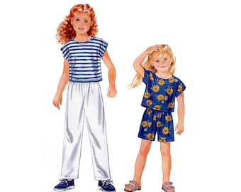 Girl's Pull-on Pants, Shorts and Top, Sewing Pattern Child Size 2-3-4-5-6-6X UNCUT Easy to Sew Simplicity 9467