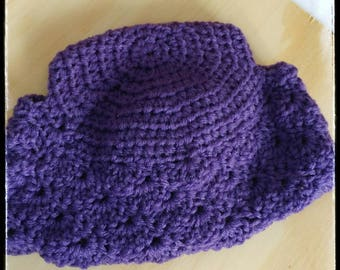 Crochet childrens double bun beanie