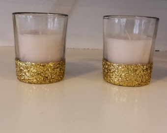 Glitter Votives with candle