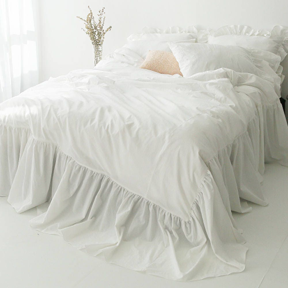 grey rose maison duvet cover ruffle double set belle limoges qcs rapp