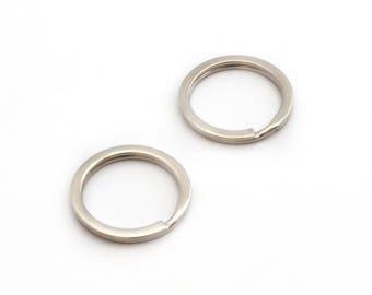 2 silver color Metal Keychain loops